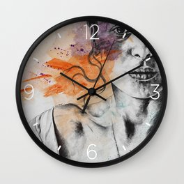 Everything, Everything | expressive sexy female portrait Wall Clock