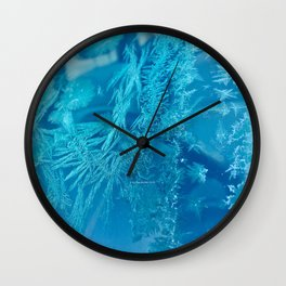Hoar Frost Ice Crystals Wall Clock