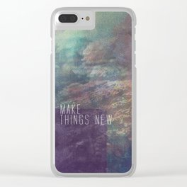 Revelation 21:5 Clear iPhone Case