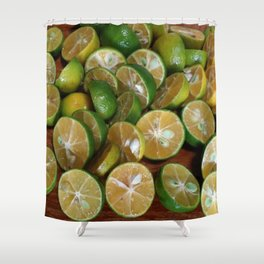 SLICES OF LIMES Shower Curtain