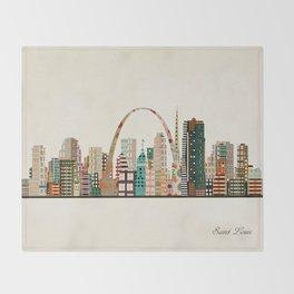saint louis skyline Throw Blanket