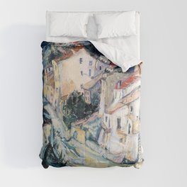 Chaim Soutine - View of Cagnes - Digital Remastered Edition Comforters
