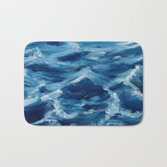 Acrylic wave Bath Mat