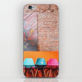 Colorful Eames Chairs iPhone Skin