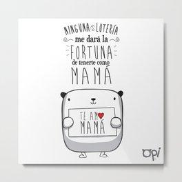 OPI MAMÁ Metal Print