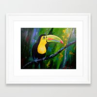 toucan Framed Art Prints featuring Toucan by OLHADARCHUK