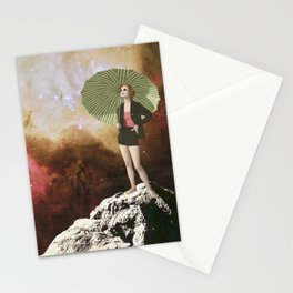 Lady in Space I Stationery Cards