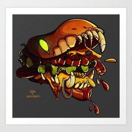 Burgermonster Art Print