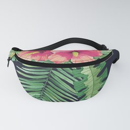Tropical Cluster Dark Fanny Pack