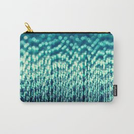 Metallic Cotton Blue Carry-All Pouch