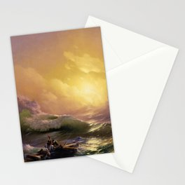 The Ninth Wave nautical sunset ocean storm landscape masterpiece by Ivan Aivazovsky Stationery Cards