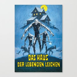 Don't Go in the House (1979), vintage horror movie poster Canvas Print