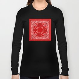 Bandana in Red & White Long Sleeve T-shirt