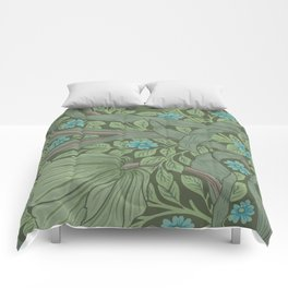William Morris Art Nouveau Forget Me Not Floral Comforters