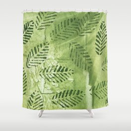 Spring abstract painting Shower Curtain