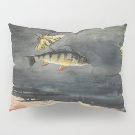 Vintage Winslow Homer Fish & Butterfly Painting (1900) Pillow Sham