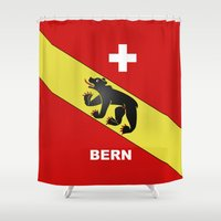 switzerland Shower Curtains featuring Bern City Of Switzerland by insitemyhead