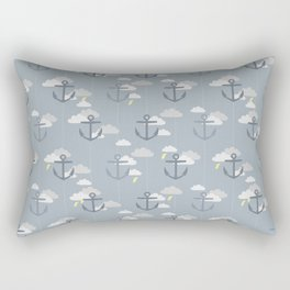 Stormy Nautical Pattern 2 Rectangular Pillow