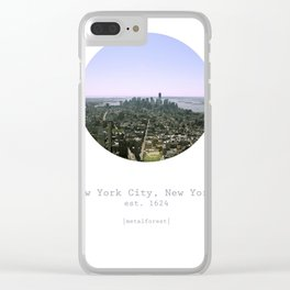 metalforest Clear iPhone Case