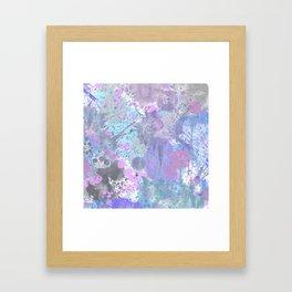 Dull Splatter Framed Art Print