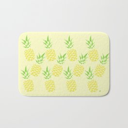 Pineapple watercolour (yellow) Bath Mat