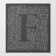 Light Letter F Canvas Print