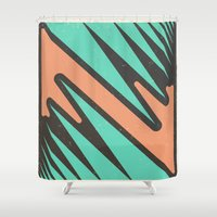 vendetta Shower Curtains featuring vendetta by Celery Woulise