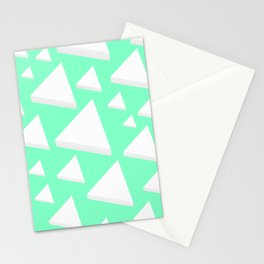 White Triangles Stationery Cards