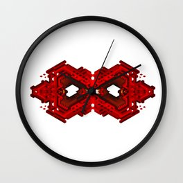 Infinite Red Hex -0 Wall Clock