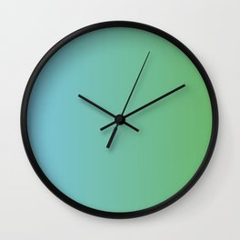 Blue and Green Transition Wall Clock