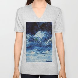 Mountains in the snow Unisex V-Neck