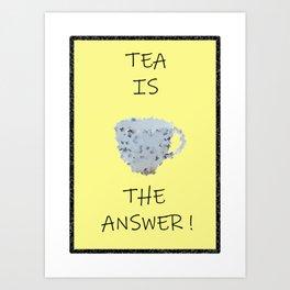 Yellow tea Art Print