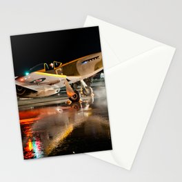 Mustang at Night Stationery Cards