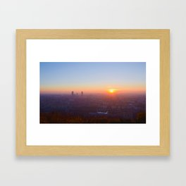 As the day is beginning Framed Art Print