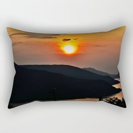 Sunset and the river Rectangular Pillow