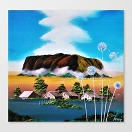 From Uluru ... Holy cloud rises. Canvas Print