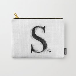 S. - Distressed Initial Carry-All Pouch
