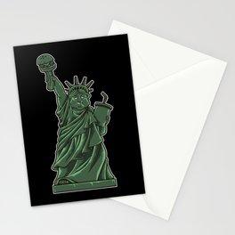 Fat Lady Liberty | Fast Food Society Hamburger Stationery Cards