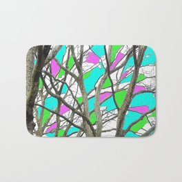 Stained glass Trees Bath Mat