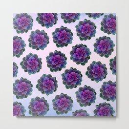 Ultra Violet Succulents Metal Print