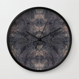all the crazy feathers Wall Clock