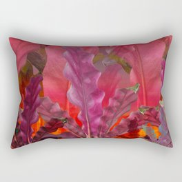 """Pink Sci-fi Tropical Jungle"" Rectangular Pillow"