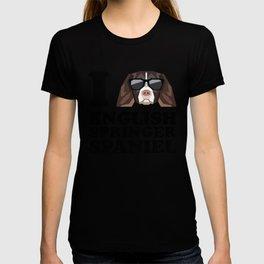I Love English Springer Spaniel modern v1 T-shirt