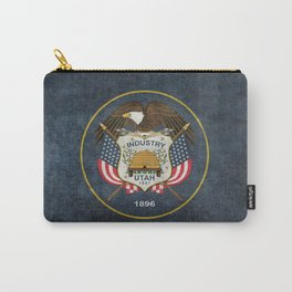 Flag of Utah, Grungy Retro Style Carry-All Pouch