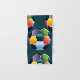 Colorful Soccer Ball Hand & Bath Towel