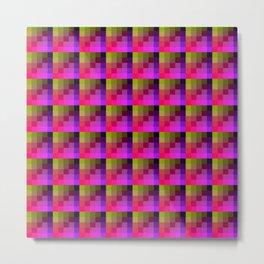 Yellow and Purple Multicolored Geometric Pattern Metal Print