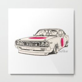Crazy Car Art 0166 Metal Print
