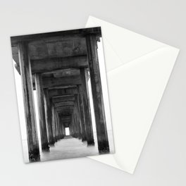 Ocean Pier Black and White Stationery Cards