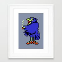 earthbound Framed Art Prints featuring Crow - Mother / Earthbound Zero by Studio Momo╰༼ ಠ益ಠ ༽