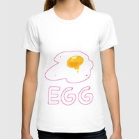 egg T-shirts featuring EGG by lemonteaflower